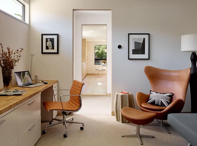 Mid-century office area